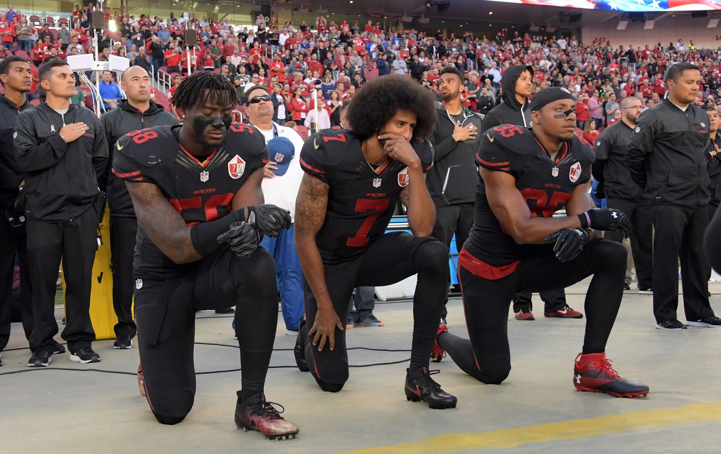 Colin Kaepernick Was Mocked And Threatened For Taking A Knee He S Also Winning Colin Kaepernick Nfl Colin Kaepernick Parents