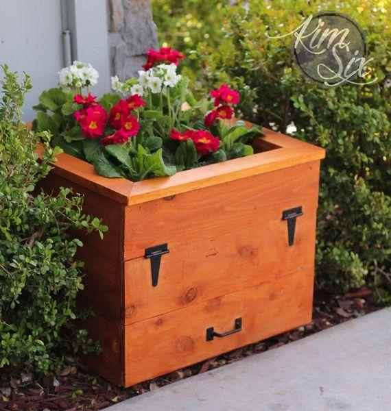 DIY Cedar Flower Box With Hidden Hose Storage