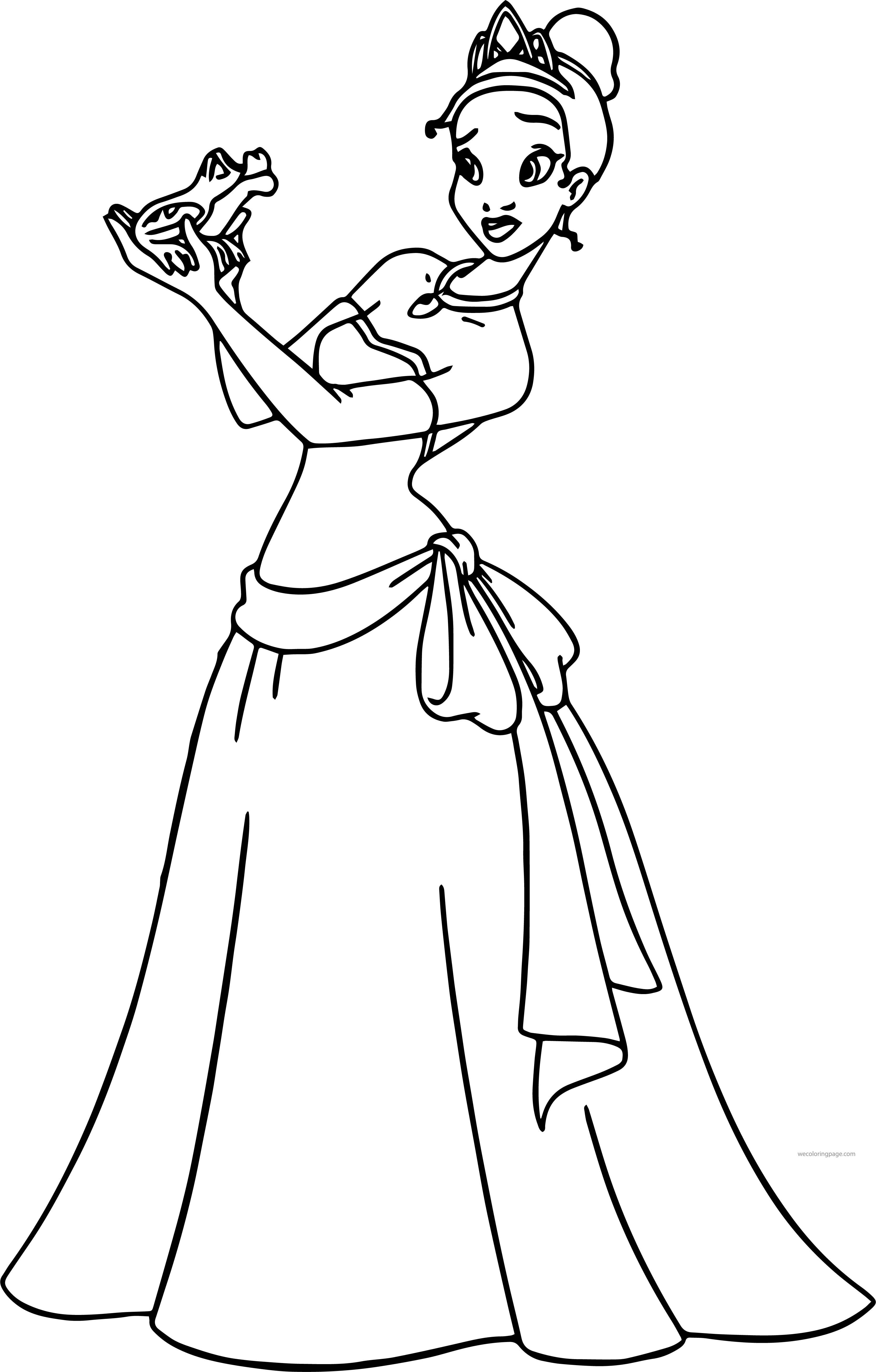 Disney The Princess And The Frog Kiss Coloring Page   Pinterest   Frogs