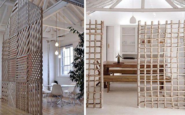 Celosías y paneles móviles como separadores de espacios - Decofilia.com