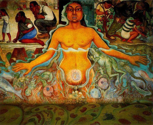 Mural De Diego Rivera En La Raza