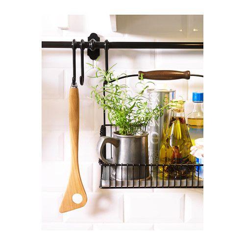 fintorp barre support noir rangement cuisine ik a et petite maison. Black Bedroom Furniture Sets. Home Design Ideas