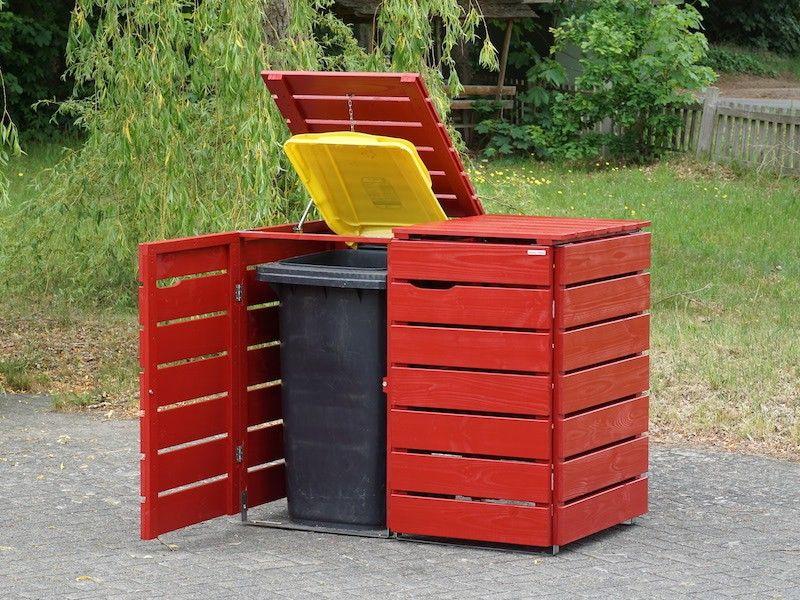 2er Mulltonnenbox Mulltonnenverkleidung Mit Holz Oder Edelstahl Deckel Erhaltlich Fur 60 L 80 L 120 Mulltonnenbox Holz Mulltonnenbox Wetterfestes Holz