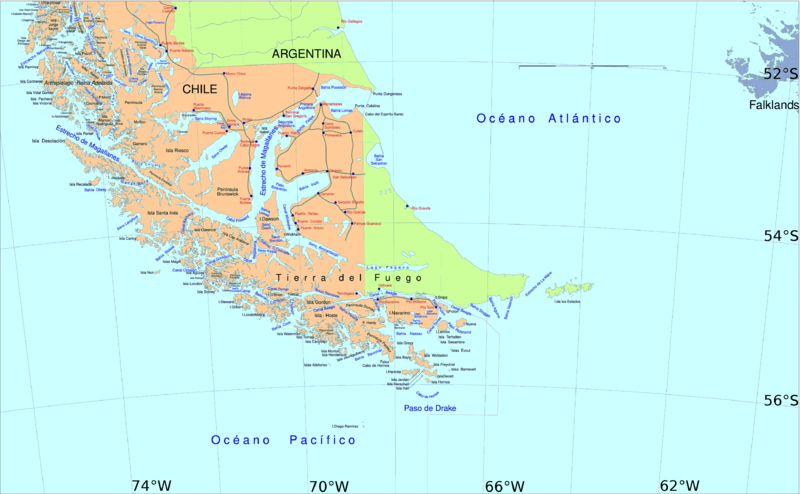 strait of magellan south america map Southern Chile Argentina From Straits Of Magellan To Cape Horn