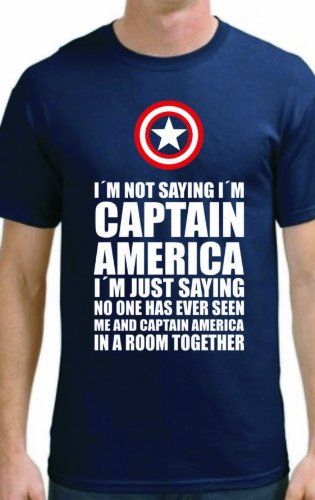 8b551d91 I'm not saying I'm Captain America Funny T-Shirt | Misc. | Captain ...
