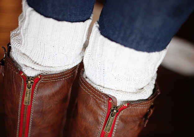 Cable-Knit Boot Socks | 34 Fall Fashion DIYs That Are Incredibly Easy