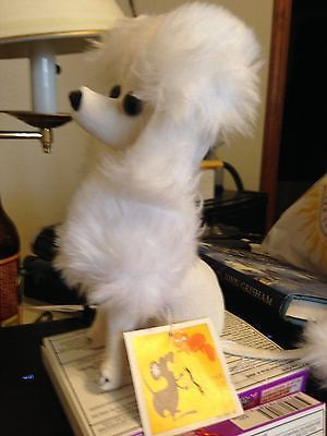 Vintage White Plush Poodle Stuffed Toy Dog Figurine Kamar - Dog obsessed with stuffed santa toy gets to meet her idol in real life