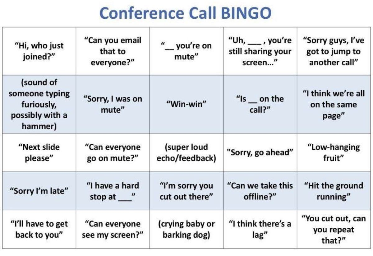 14 If You Want To Do More Of An Activity Rather Than A Game These Sounded Like Fun From Another In 2020 Conference Call Bingo Games To Play Games To Play With Kids