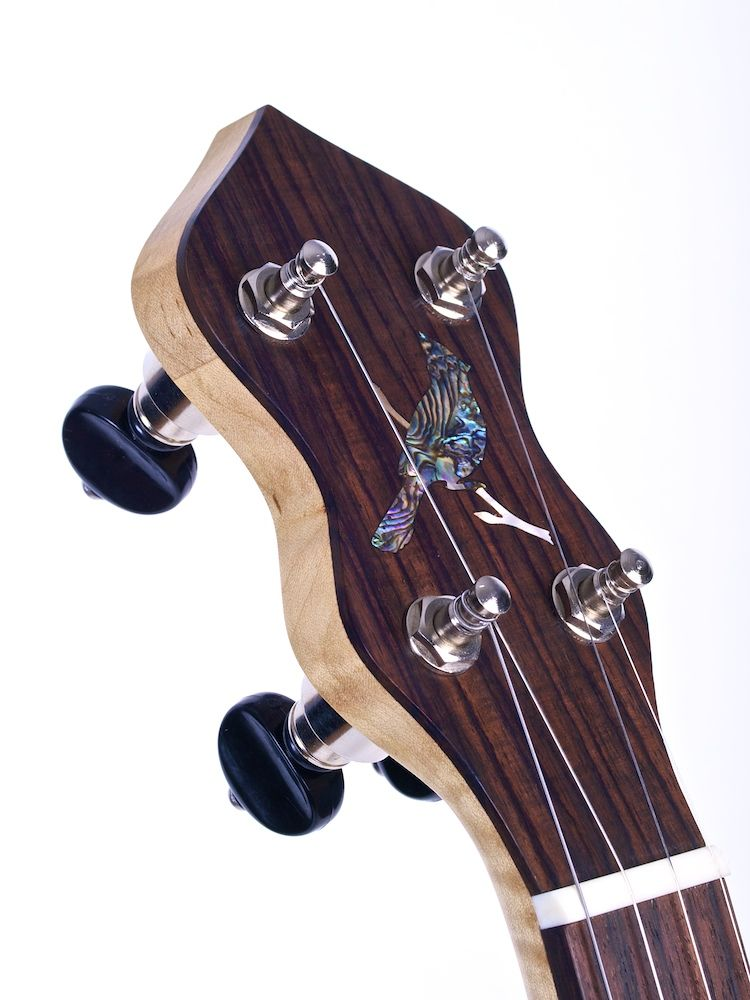 Head stock inlay on J model.