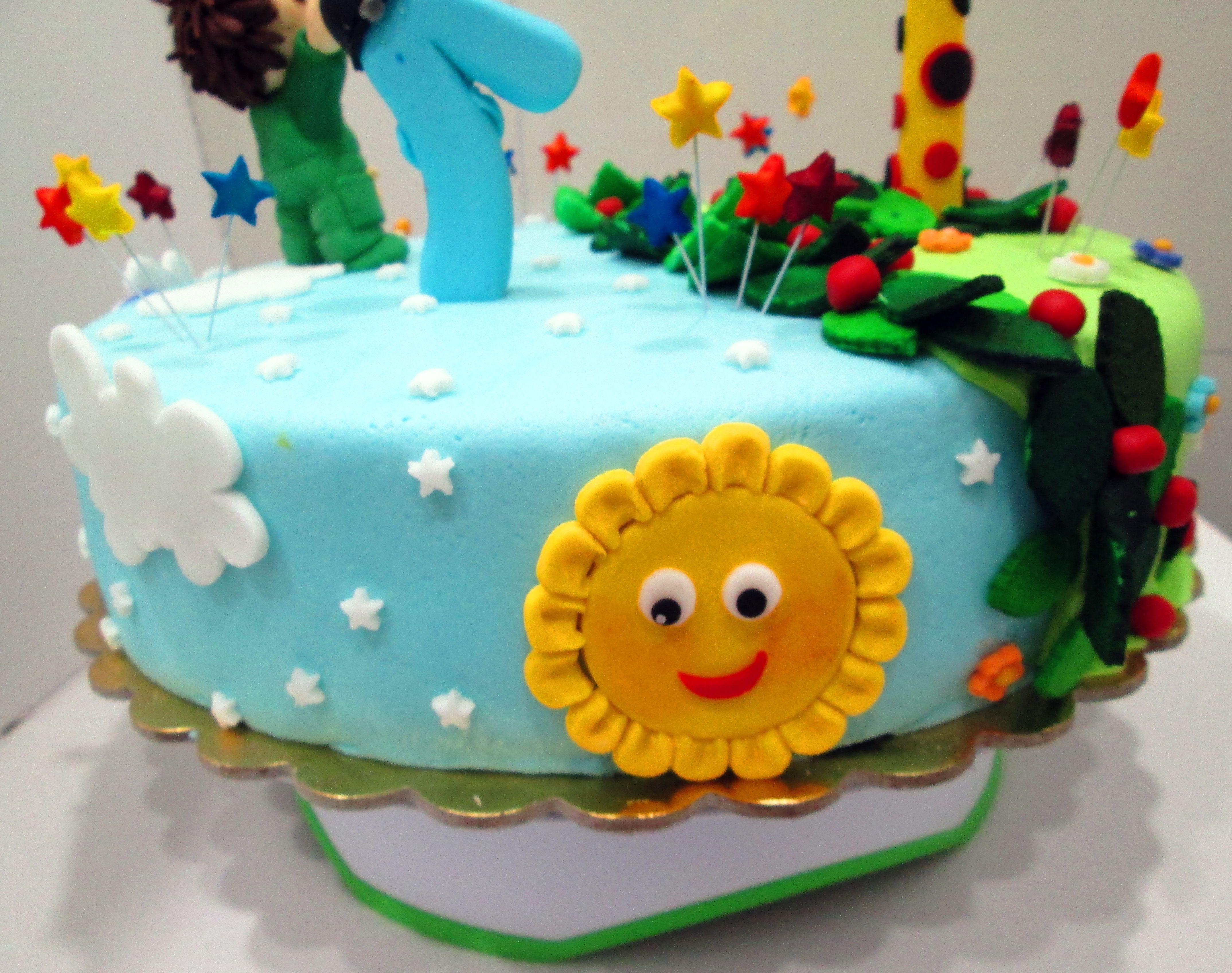 Baby Tv Inspired Birthday Cake Charlie Numbers Giraffe Rainbow