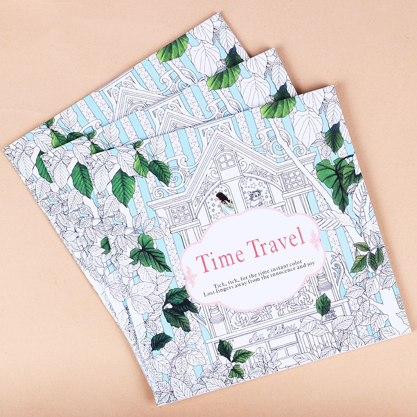 1 PC Relieve Stress Kill Time Graffiti Painting Art Books Travel Coloring Book For Adult