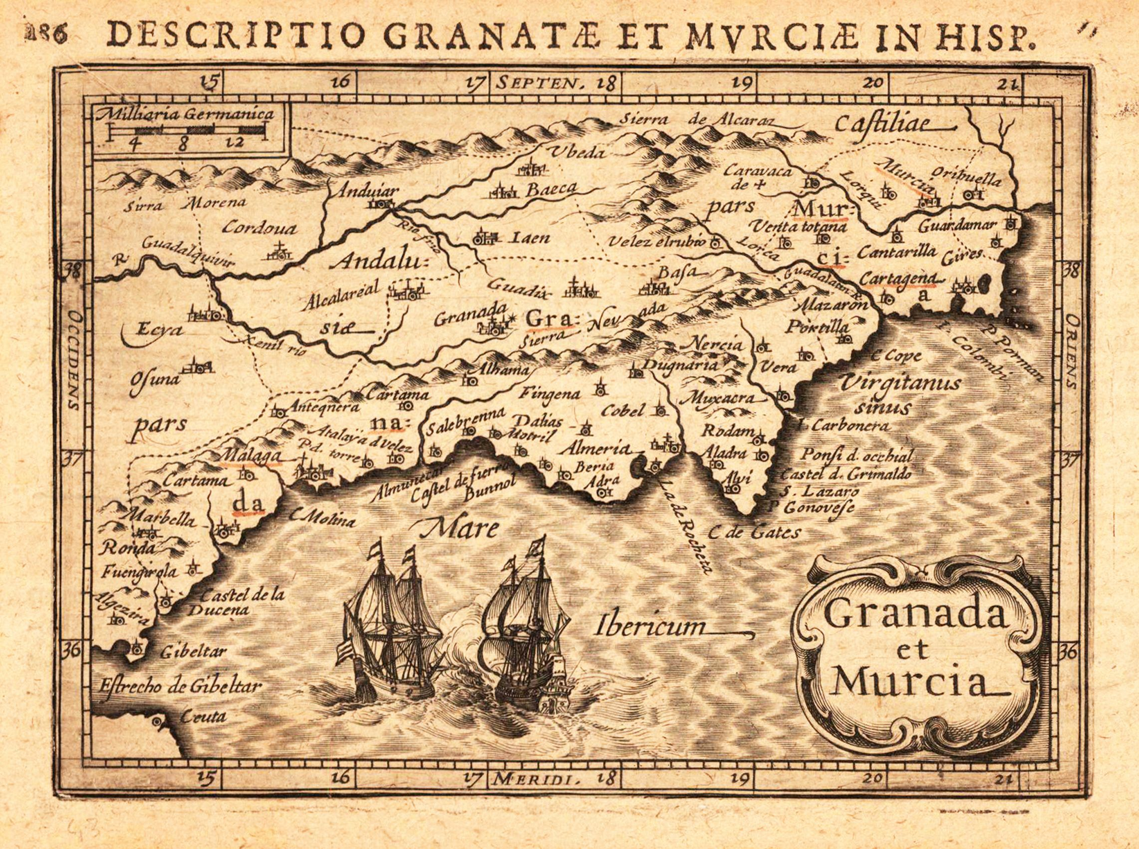 Un mapa antiguo de Granada y Murcia Kolfinna J Mapas Andaluca