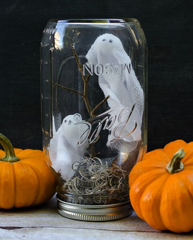 17 Halloween Decor Ideas For A Spooky Office Or Cubicle Halloween Mason Jars Office Halloween Decorations Halloween Cubicle