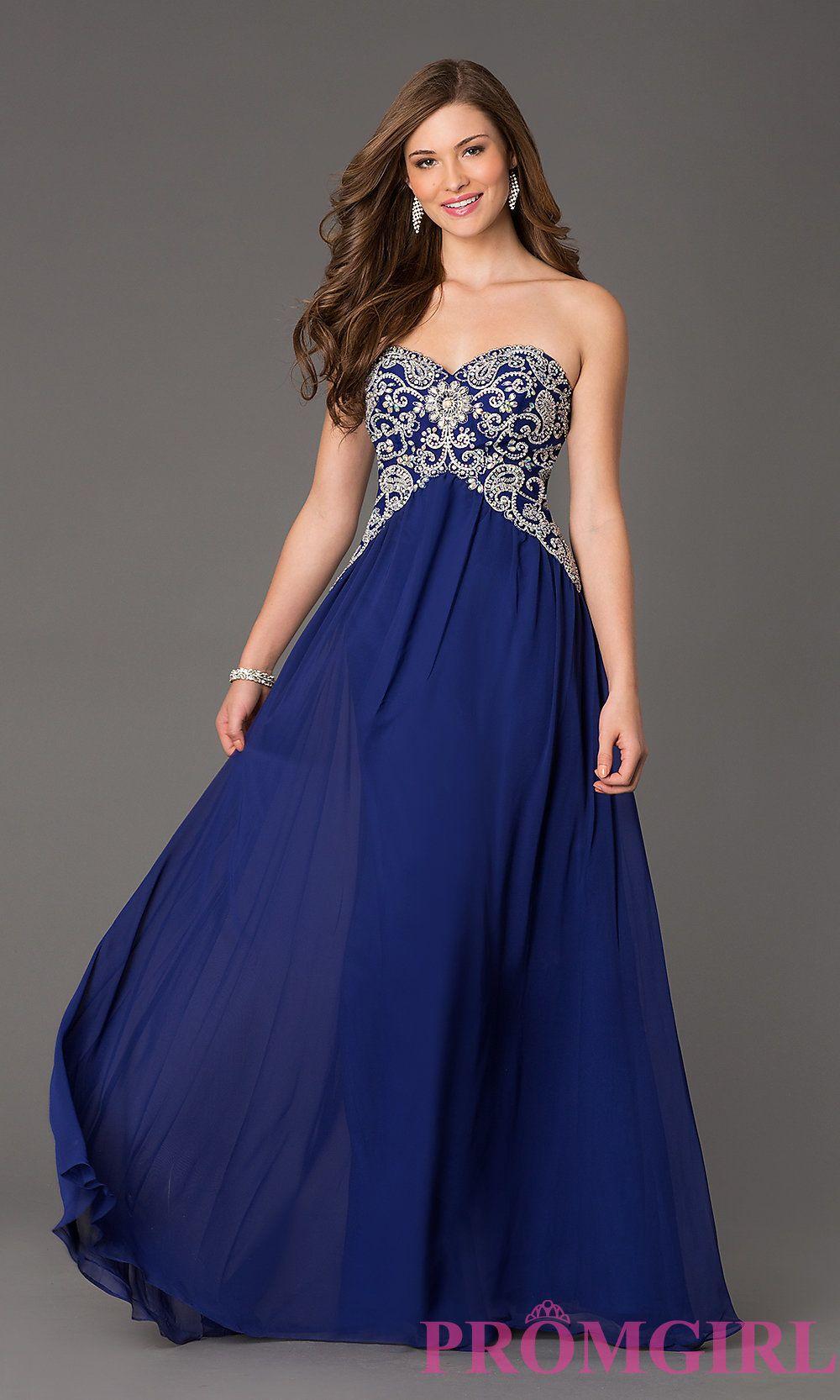 Long Strapless Prom Dress - Ocodea.com