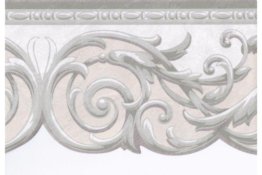 Borders Center Grey And Cream Wallpaper Grey Wallpaper Border Wallpaper Border
