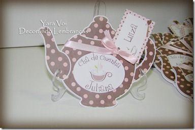 Convite Bule de Chá.  Bridal Shower Invite