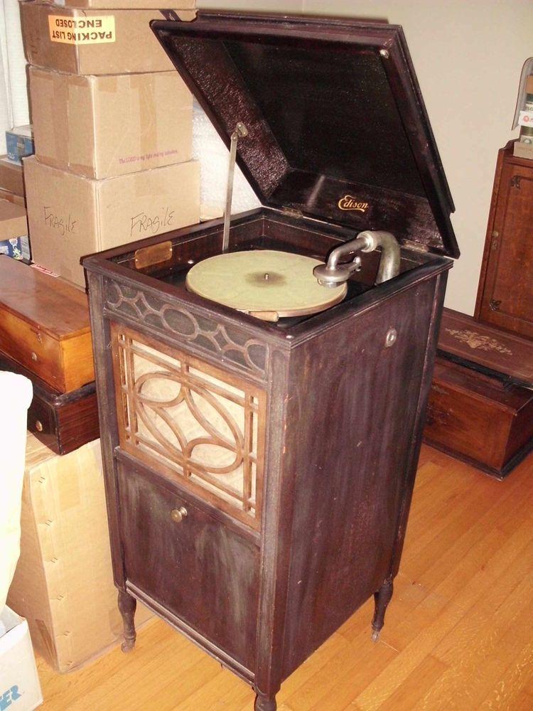 Edison C150 Diamond Disc Phonograph in Collectibles, Radio, Phonograph, TV, Phone, Phonographs, Accessories | eBay