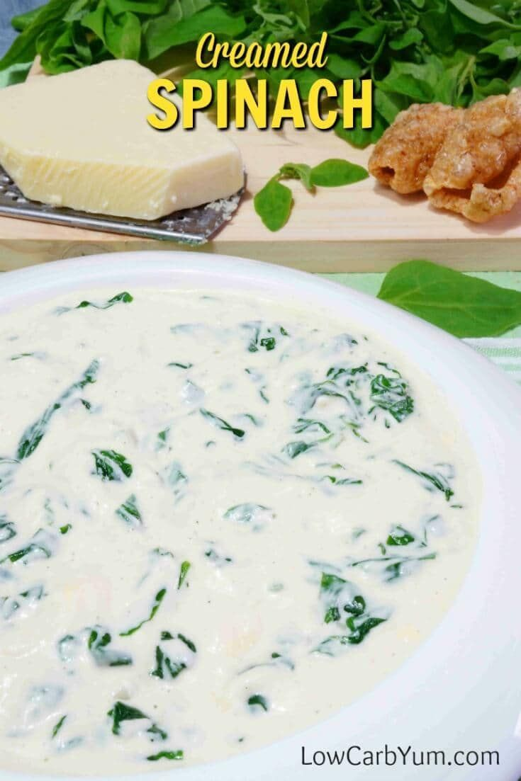 3 tablespoons butter 1 teaspoon onion powder 2 cloves garlic , minced 2 (10  oz) packages frozen chopped spinach, thawed and drained or equivalent fresh  1 ...