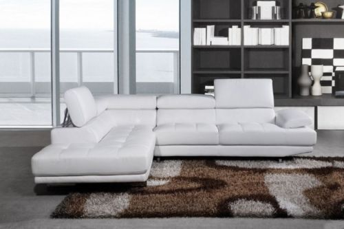 Excellent Milano White Leather Corner Sofa Left Hand Ebay Leather Ncnpc Chair Design For Home Ncnpcorg