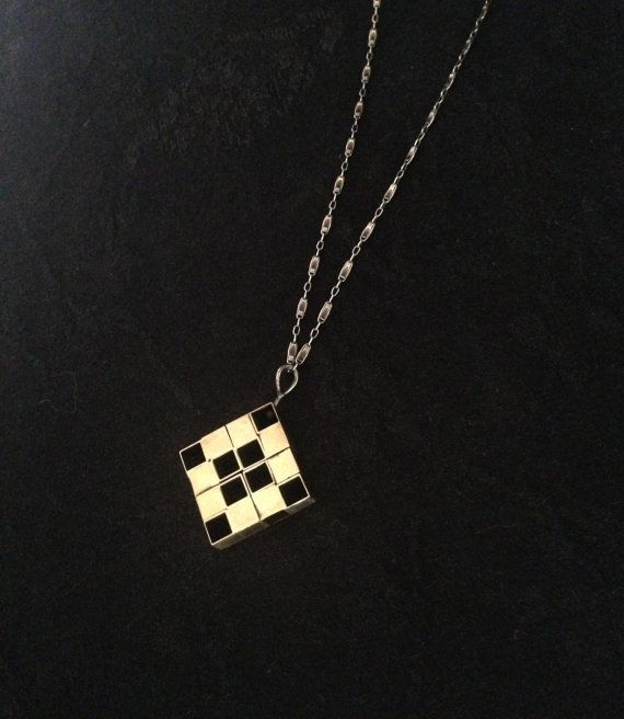 Brass Squares Necklace by ginamount on Etsy, $140.00