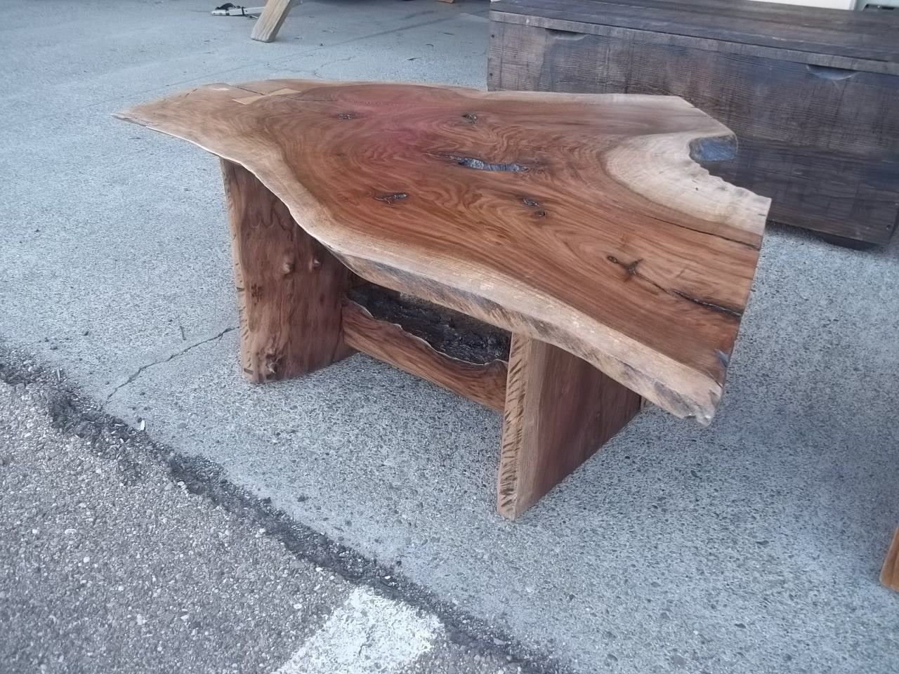 Black Walnut Coffee Table Black Walnut Coffee Table With Crook And Bow Tie Fastener 9547
