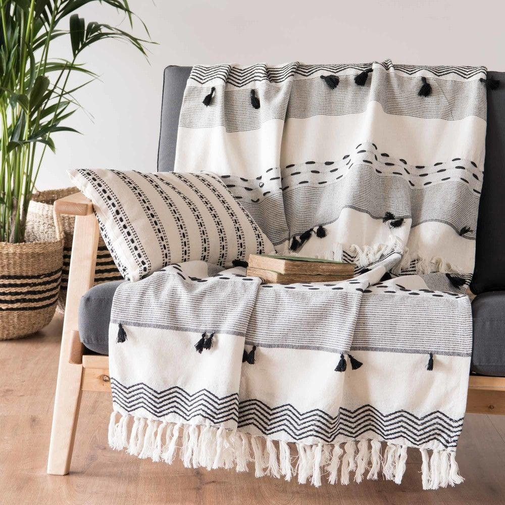 Maisons Du Monde Lyon Home Furnishings Aw 2018 Cotton Throws White Throws White Cotton