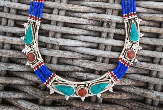 Lapis blue Tibetan Necklace Authentic Himalayan by CultureCross