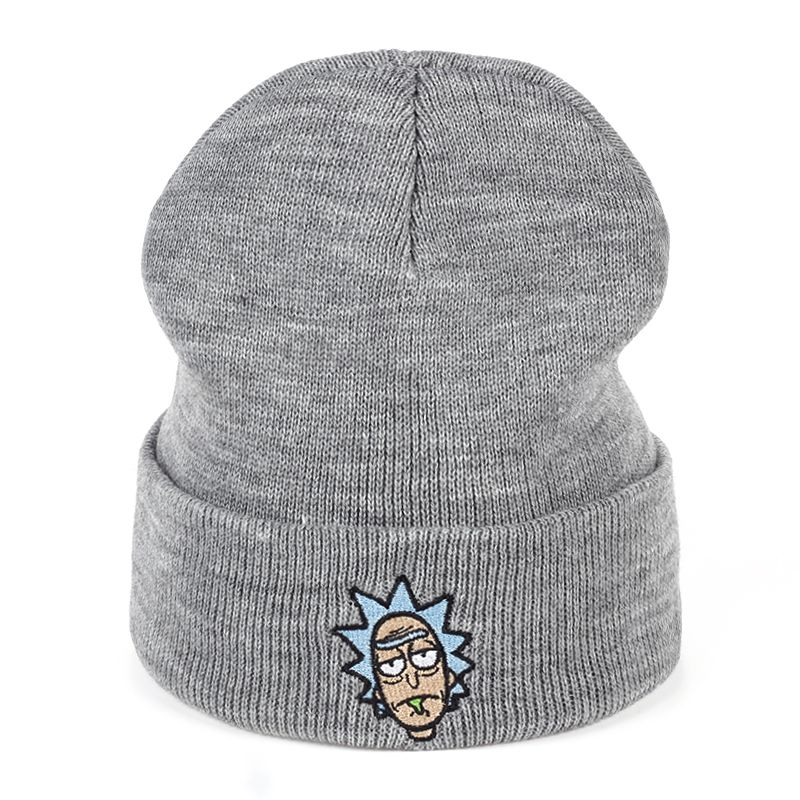 8053e99e28b Rick And Morty Winter Hats Rick Beanies Elastic Brand Embroidery Ski Gorros Cap  Warm Unisex Knitted Hat Skullies US Animation