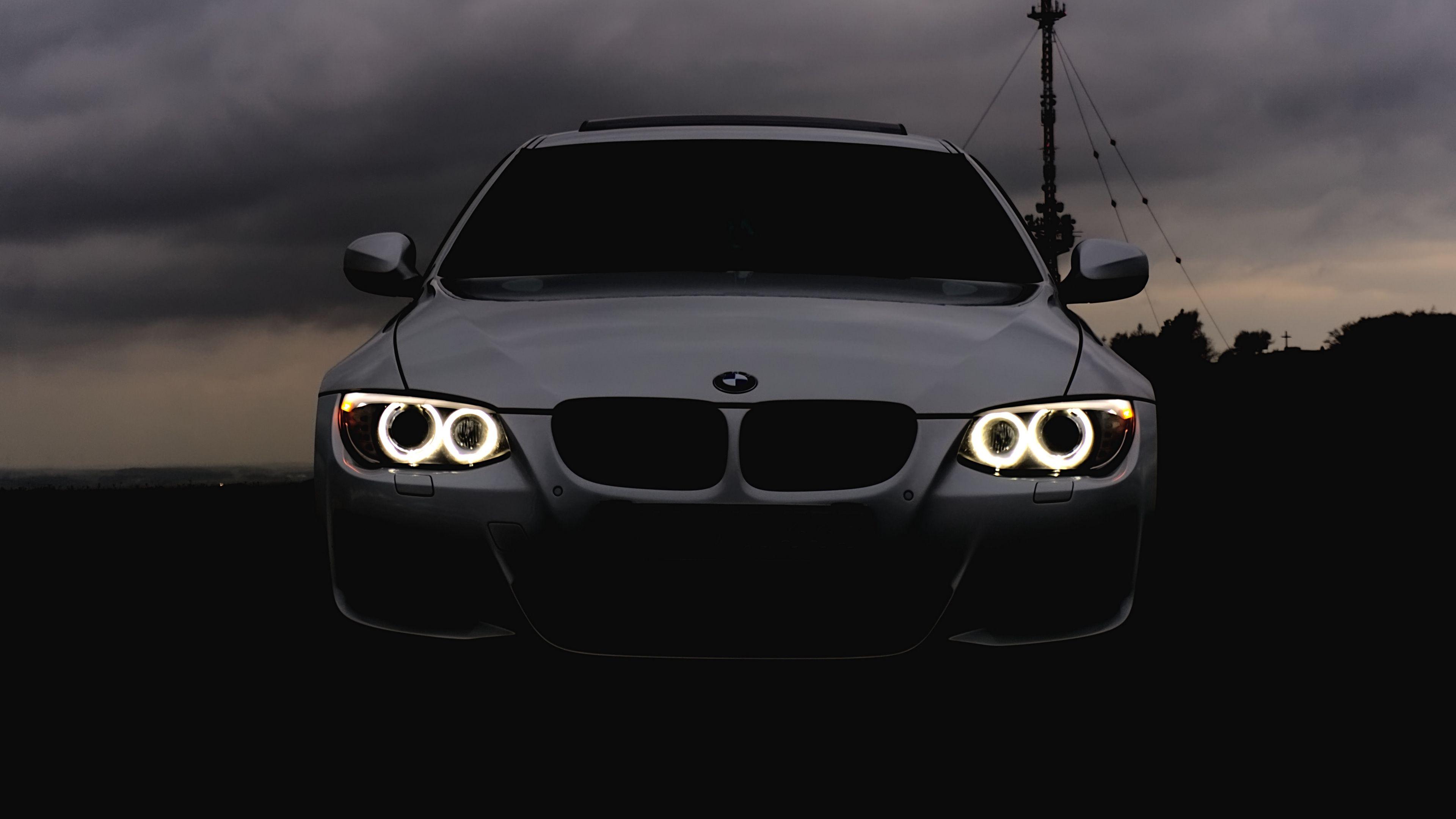 Bmw Headlights Car Cloudy Overcast 4k Headlights Car Bmw Jaguar Car Car Hd Bmw