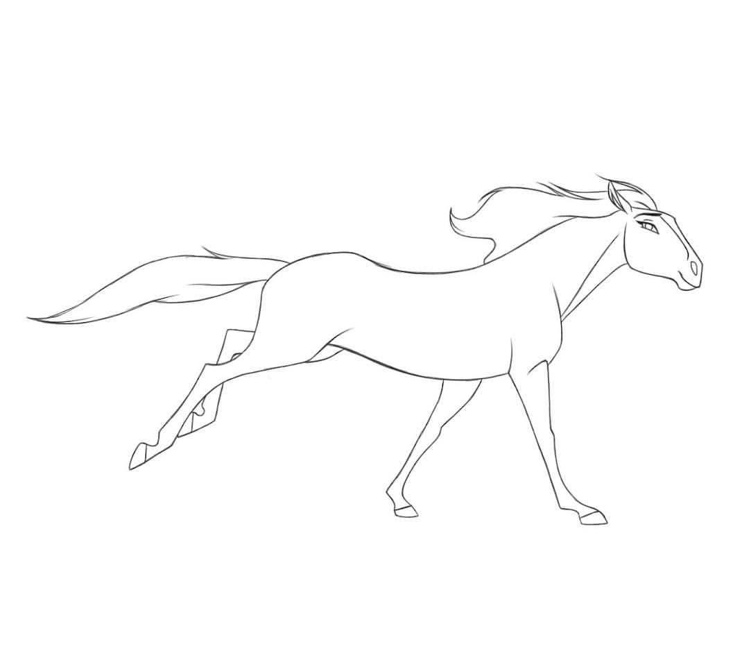 Image Result For Spirit Stallion Of The Cimarron Fanart Line Art Horse Coloring Pages Art