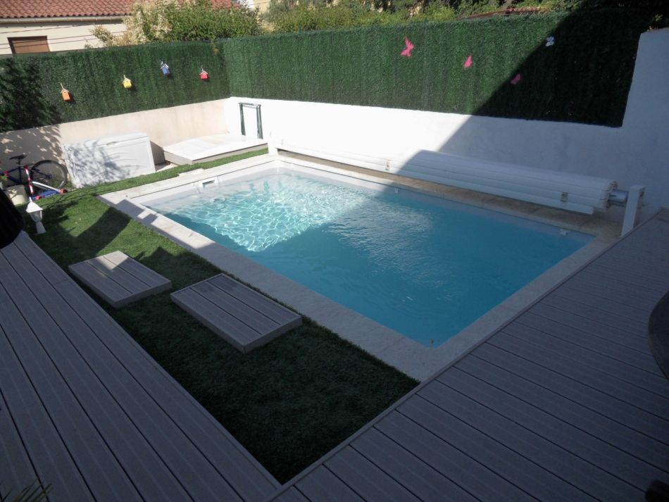 Photo Petite piscine polyester de 5m - Photo du0027une piscine coque