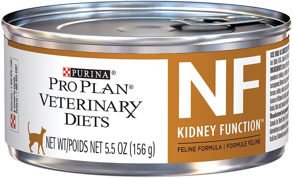 Purina Pro Plan Veterinary Diets Nf Kidney Function Advanced Care Formula Canned Cat Food 5 5 Oz Case Of 24 Chewy Com Canned Cat Food Urinary Tract Cat Food Cat Food