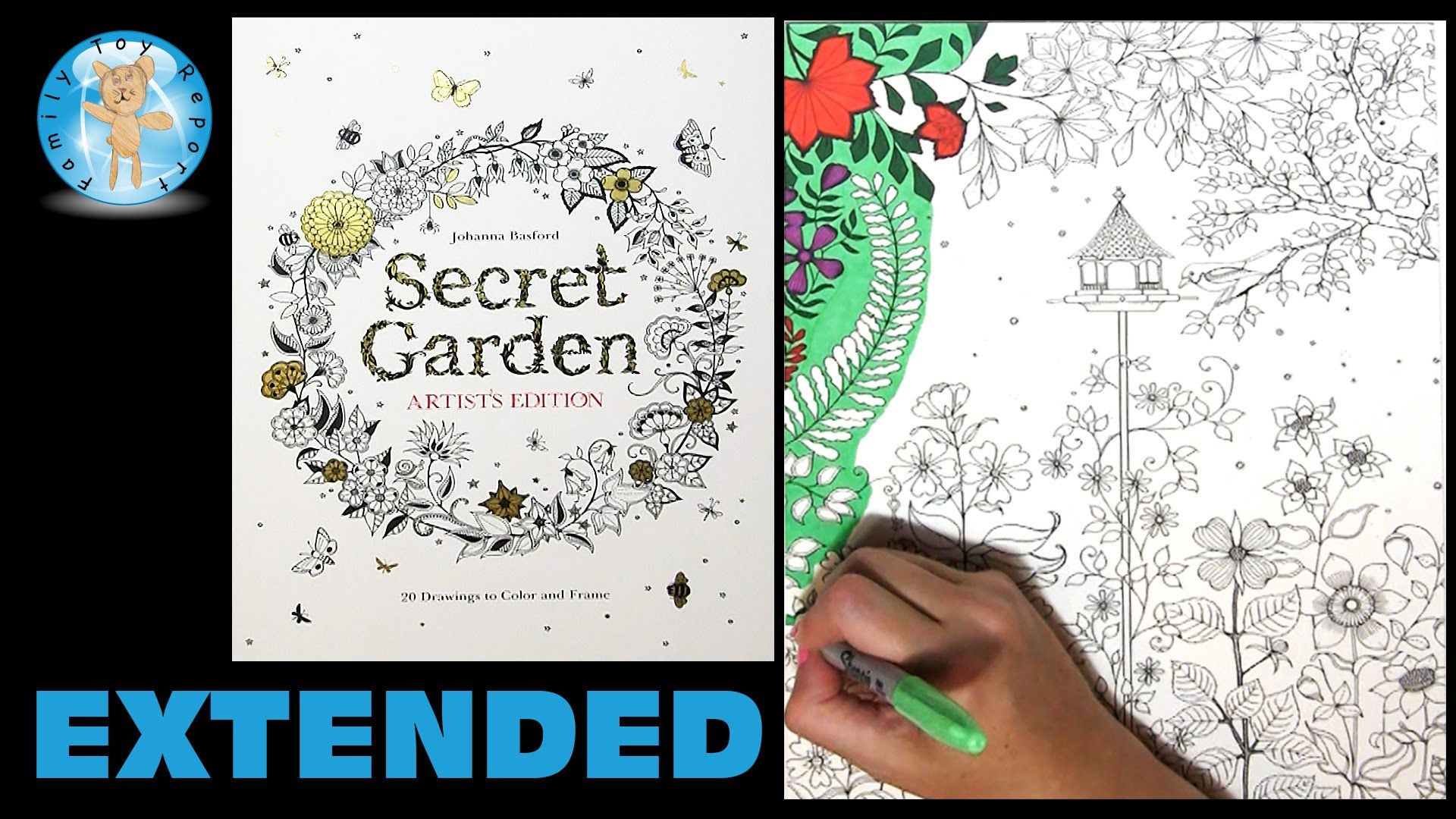 In This Video We Color A Page From Secret Garden 20 Drawings To And Frame By Johanna Basford The Are Adult Coloring Book