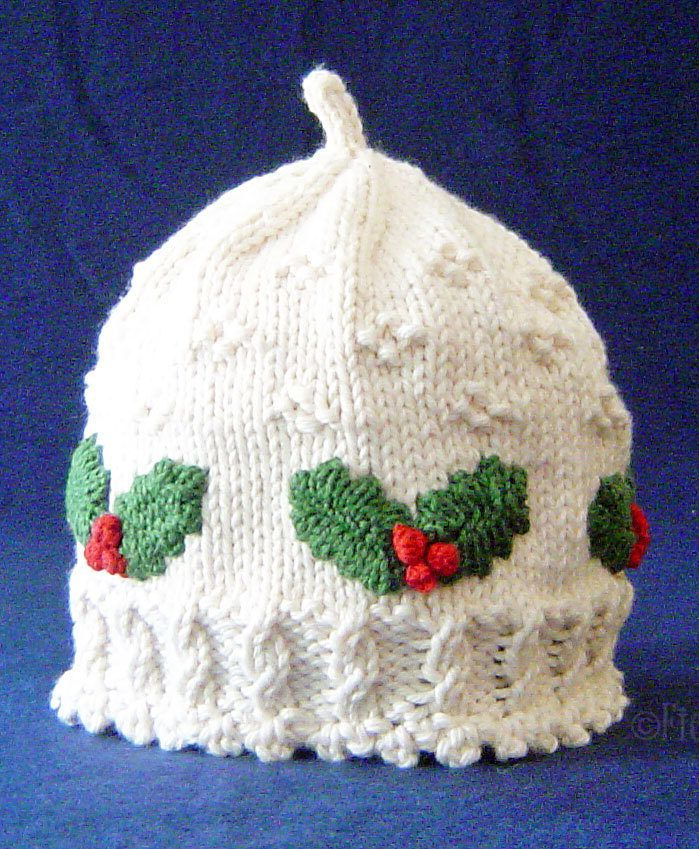 Knitting Pattern for Holly Hat - This holiday hat pattern features ...