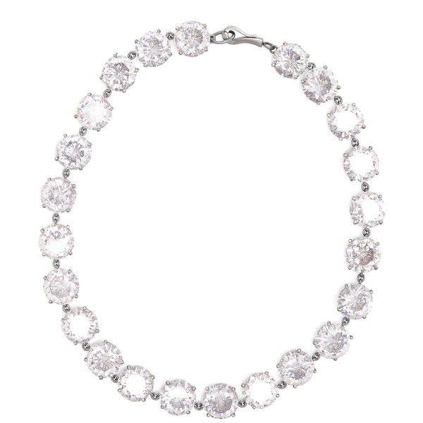 Bottega Veneta Cubic-zirconia and oxidised-silver necklace ($2,350) ❤ liked on Polyvore featuring bottega veneta