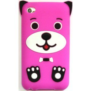 Amazon.com: BUKIT CELL Apple IPOD TOUCH 4 4G 4TH GENERATION (ITOUCH 4 8GB 16GB 32GB) Hot Pink DOG PUPPY Silicone Silicon Case Cover + Free Screen Protector + Free Metallic Detachable Touch Screen STYLUS PEN with Anti Dust Plug: Cell Phones & Accessories