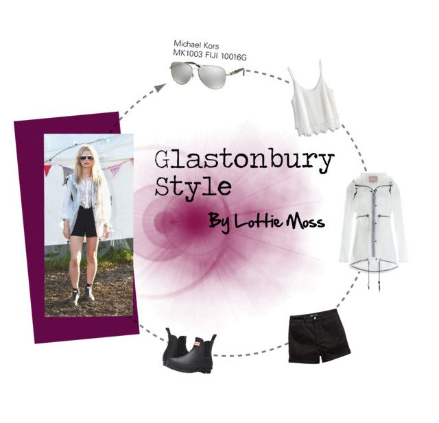 """Glastonbury Style by Lottie Moss"" by smartbuyglasses-uk ❤ liked on Polyvore featuring Hunter, Chicwish, Michael Kors, StreetStyle, glastonbury and lottiemoss"