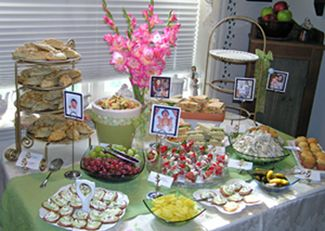 baby shower tea party menu tea sandwiches chicken salad egg salad cornish pasties broccoli