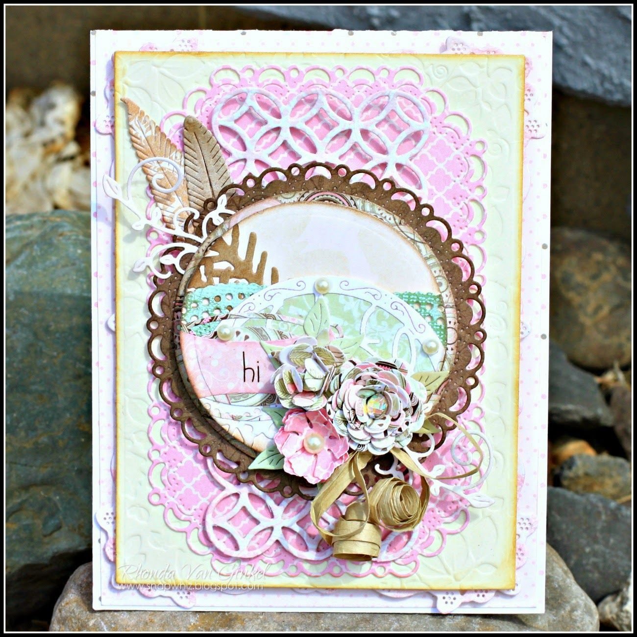 Collage focus with rhonda cheery card maker card making