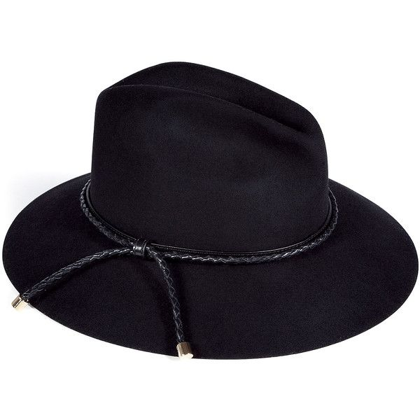 BURBERRY LONDON Black Beat Plaited Ingrid Trilby Hat (3.355 NOK) ❤ liked on Polyvore featuring accessories, hats, burberry, black, headwear, trilby hat, burberry hat, braided hat and woven hat