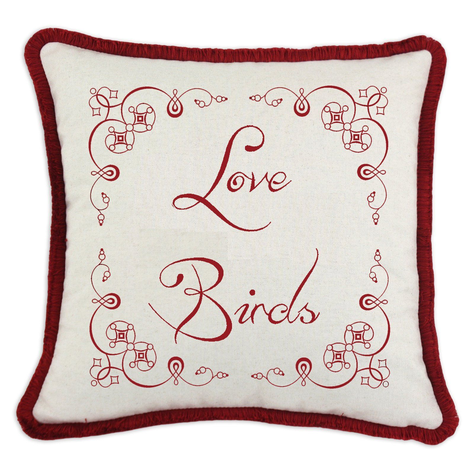 D'Kei Valentines Graphic Pillow Love
