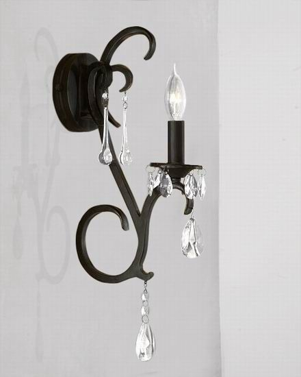 Black Chandelier Wall Sconce Sconces