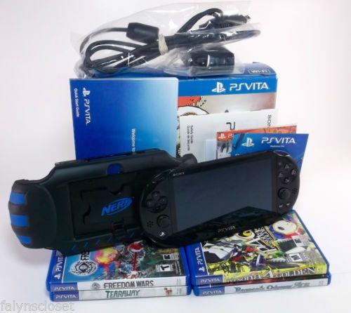 Sony Ps Vita Slim Pch 2001 Wifi 8 Gb Latest Model Nerf Armor Game
