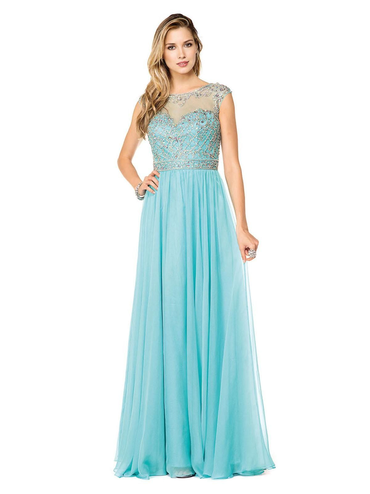 Glow g in stock sz cap sleeve fit and flow prom evening mother
