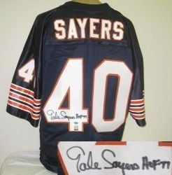 779c41aff Gale Sayers Signed Chicago Bears Jersey w HOF 77 .  285.00. Gale Sayers  hand-signed Chicago Bears jersey. This jersey is accompanied by a Radtke  Sports ...