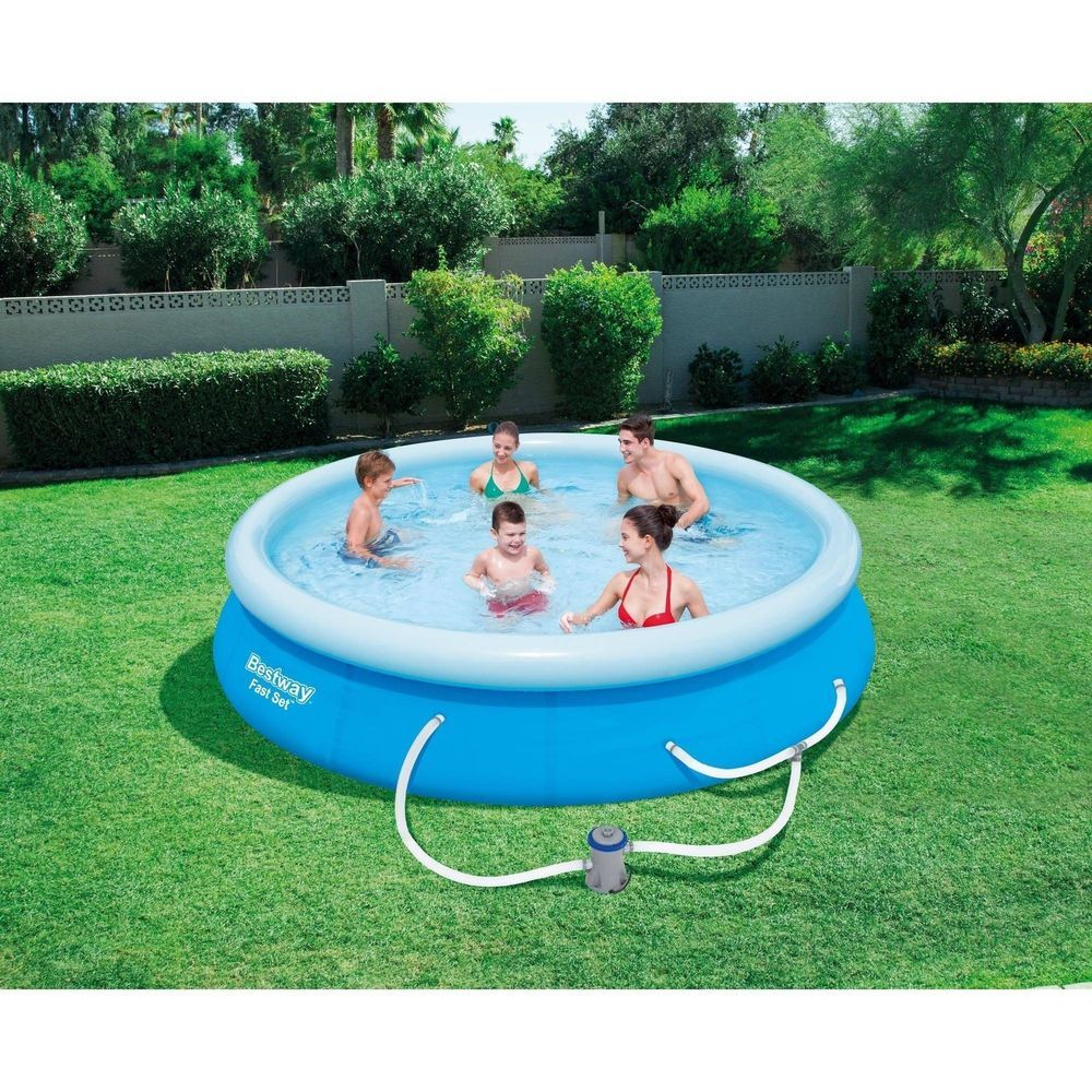 Swimming Pool Set With Filter Pump 12 X 30 Outdoor Garden Inflatable Air Blown Bestway Above Ground Swimming Pools Swimming Pools In Ground Pools