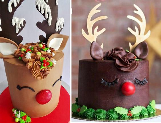 Torta De Navidad Renos Torta Navidad Tartas Navideñas Pastel De Navidad