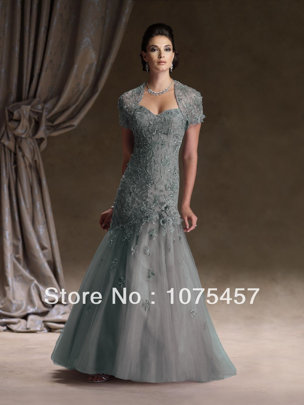 5e75cb094f779 Elegant Sweetheart Mother Bride Dress with Jacket Lace Bodice ...