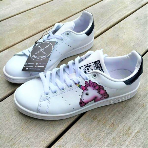 58324a66edbafc Adidas Stan Smith Licorne - Double G Customs - Chaussures ...