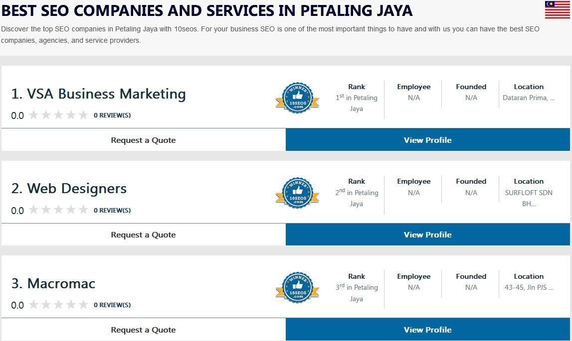 Ratings Reviews Of Best Seo Companies Agencies In Petaling Jaya 10seos Brings The Ranking Of Top Seo Companies Seo Firms Seo Servi Best Seo Seo Company